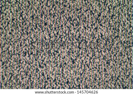 Analog TV CRT kinescope RGB noise. Texture - color TV screen - no signal.  - stock photo