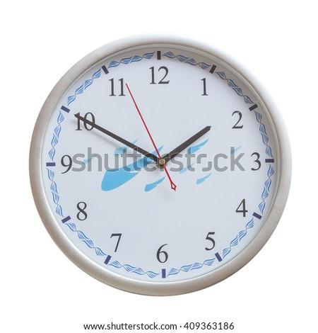 analog wall clock on isolate - stock photo
