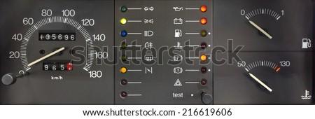 Analogue Car Dashboard - stock photo