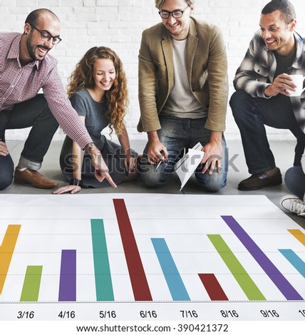 Analysis Analytics Bar graph Data Information Concept - stock photo