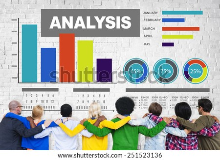 Analysis analyzing information bar graph data concept - stock photo