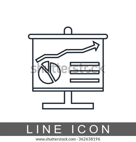 analysis board icon - stock photo
