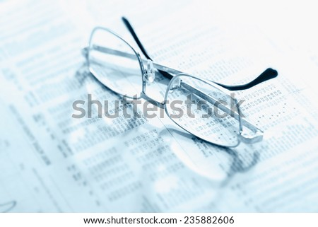 Analysis in a down market - stock photo