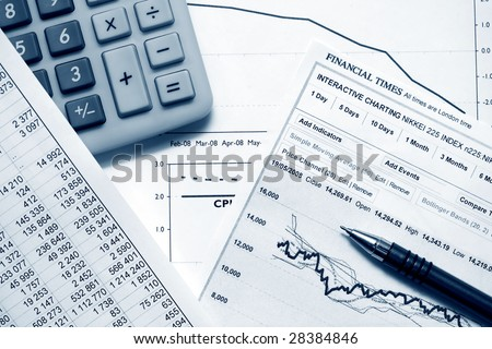 Analysis of the financial data. - stock photo