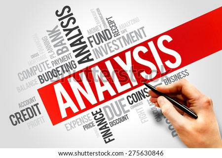 ANALYSIS word cloud, business concept - stock photo
