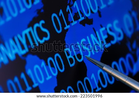 Analytics for winning business - stock photo