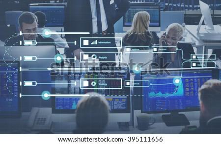 Analytics Report Status Information Analysis Chart Graph Concept - stock photo
