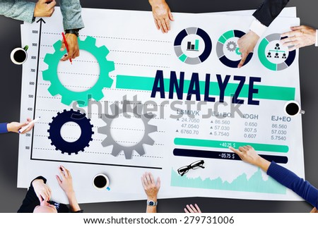 Analyze Analysis Data Information Planning Concept - stock photo