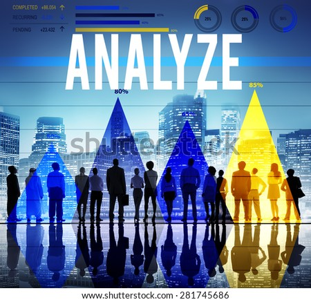 Analyze Data Analysis Strategize Information Concept - stock photo