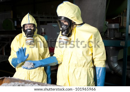 Analyzing disposed aluminium - stock photo