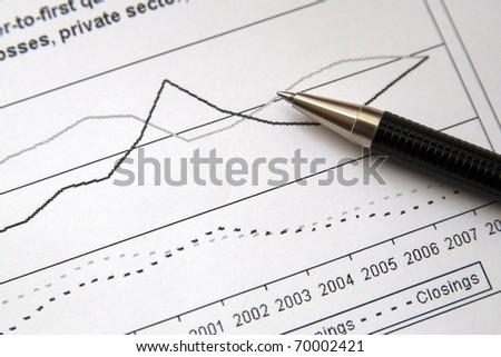 analyzing the market - stock photo