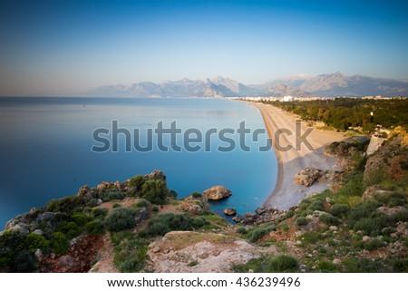 Anatalya, Turkey: Beach and Coast - stock photo