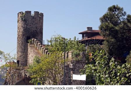 Anatolian Fortress (Anadolu Hisari) at Bosphorus in Istanbul, Turkey.  - stock photo
