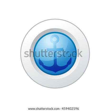 anchor button - stock photo