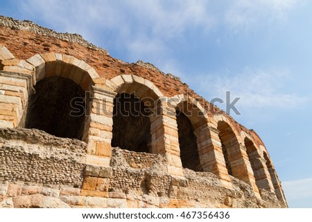 Ancient amphitheater Arena in Verona, Italy