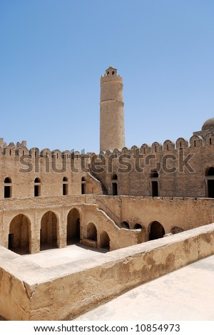 Ancient arab fortress in Sousse, Tunisia - stock photo