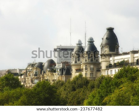 Ancient architecture and Buldings of Paris. - stock photo
