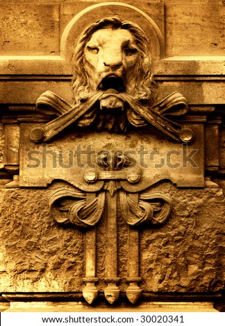 Ancient architecture detail - stock photo
