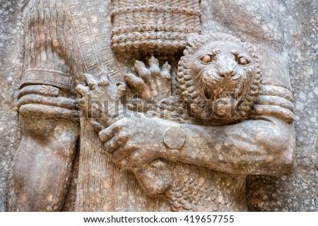 ancient babylonia assyria sculpture painting mesopotamia stock photo