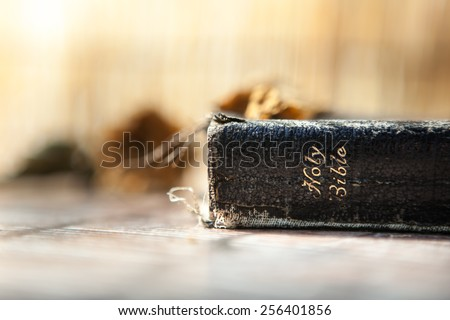 Ancient Bible  - stock photo
