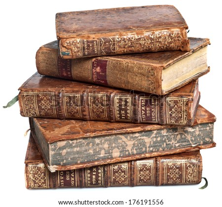 ancient books - stock photo
