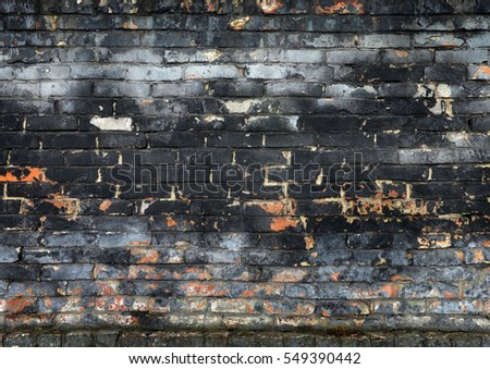 Ancient brick wall, background, texture