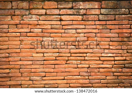 Ancient brick wall texture background