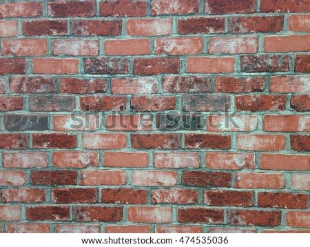 Ancient brick wall to use as background