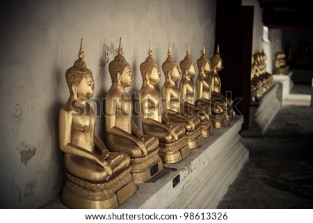 Ancient Buddha in Ayuthaya, Thailand - stock photo
