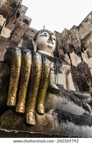 Ancient buddha statue. Sukhothai Historical Park, Sukhothai Prov - stock photo