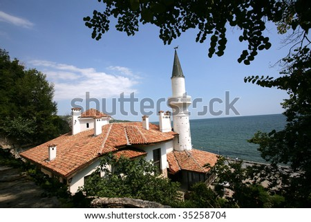 ancient building near the sea in Bulgaria - stock photo