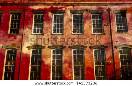 Ancient buildings in the French Quarter - stock photo