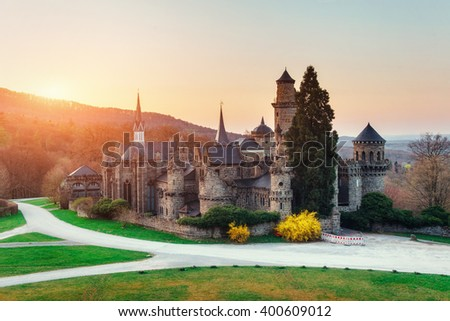 Ancient castle. Germany Europe - stock photo