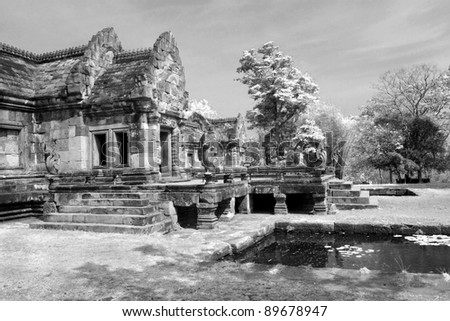 Ancient castle in Phanom Roonk historical park,  at Buriram province Thailand.