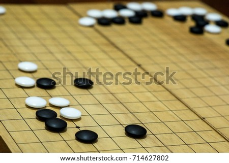 Ancient Chinese Broad Game Known As Go