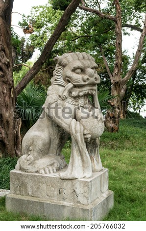 ancient Chinese stone carving animal
