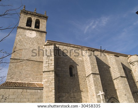 Ancient church located in Madrid province, Spain