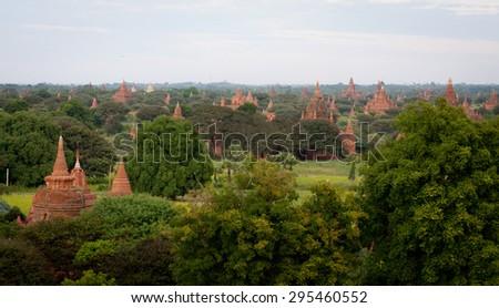 Ancient city of Bagan, Myanmar - stock photo