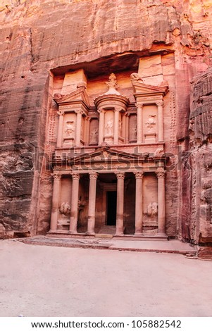Ancient City of Petra Built in Jordan