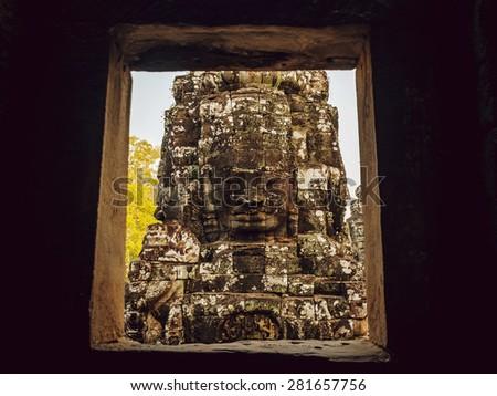 Ancient civilization temple. Beautiful background - stock photo