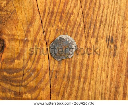 ancient coin Poland 1,5 grosz - stock photo