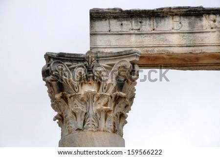 Ancient Column - stock photo