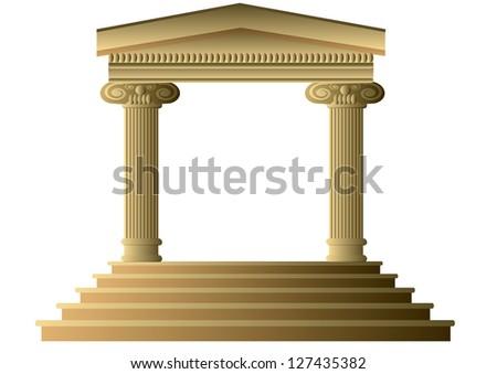 Ancient columns - stock photo