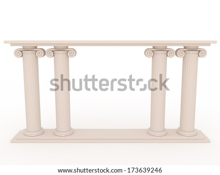 Ancient columns of marble 1 - stock photo