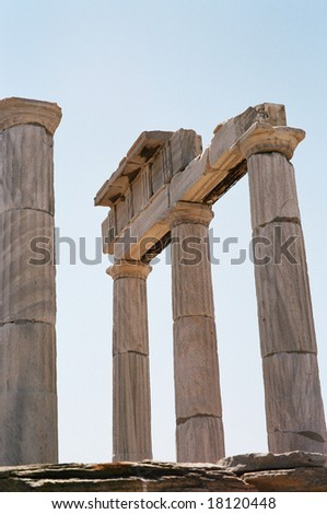 Ancient columns on Delos