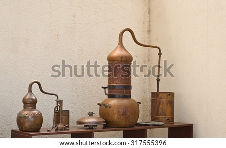 Ancient Copper Distillery - stock photo