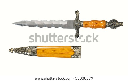My Characters! - Page 3 Stock-photo-ancient-dagger-knife-with-case-isolated-on-white-33388579
