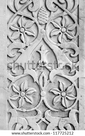 ancient decorative marble ornamental - stock photo