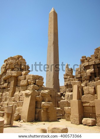 Ancient Egypt, Luxor - stock photo