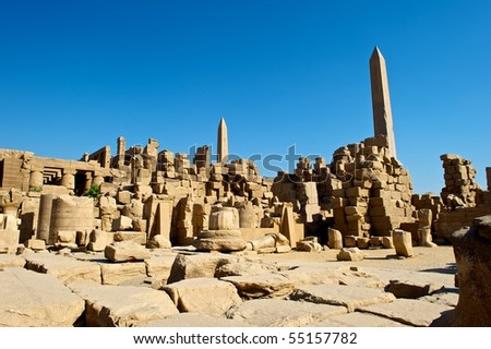 ancient egypt ruins - stock photo